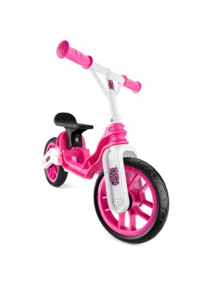 XOOTZ CHILDRENS FIRST FOLDING BALANCE BIKE - PINK/WHITE