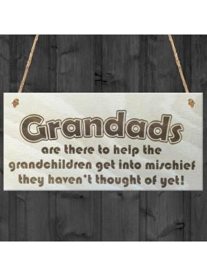 Grandads Funny Grandchildren Wooden Hanging Plaque Gift Sign