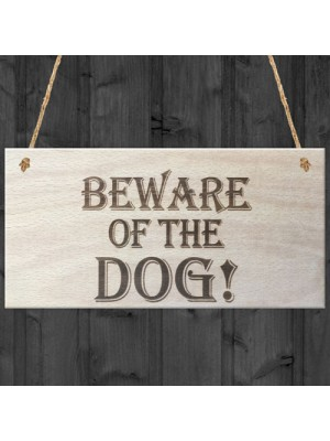 Beware Of The Dog Wooden Hanging Shabby Chic Plaque Gift
