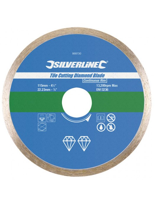 115mm Continuous Rim Tile Cutting Diamind Blade Wet Or Dry Use