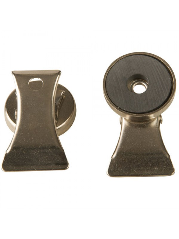 2 Pack Of Nickel Plated Magnetic Clips Note Recipe Holders
