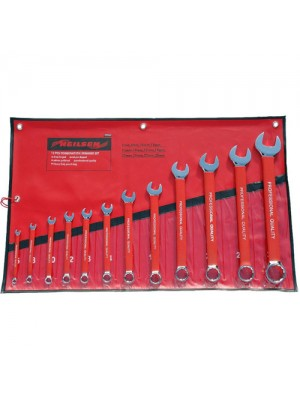 12 Pc Metric Combination Spanner Wrench Tool Set 6-32mm