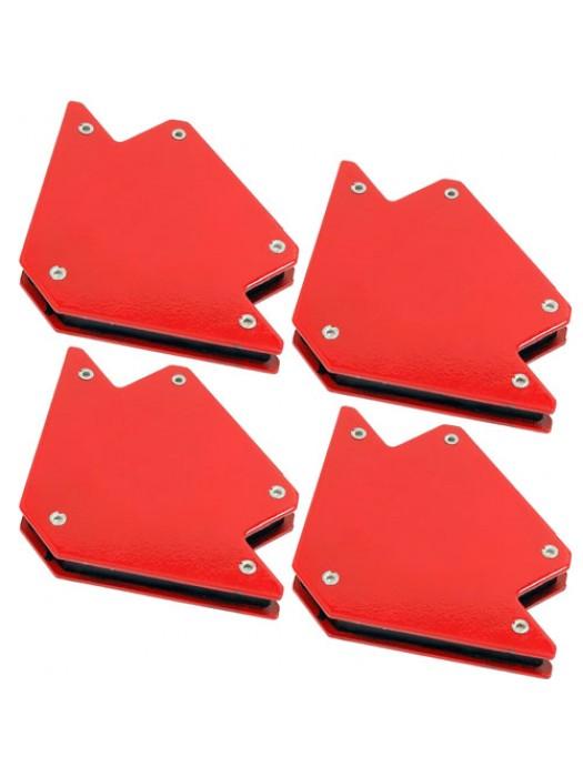Set of 4 25lb Magnetic Welding Holders Magnet Arrows Welder