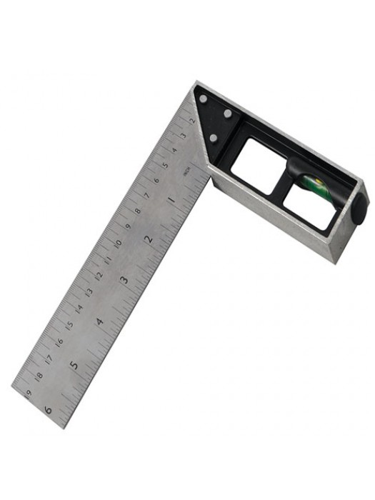 Tri & Mitre Square With Spirit Level Angle Steel Blade 150mm
