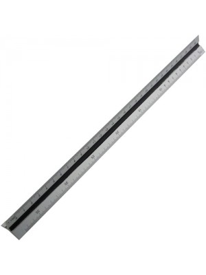 12inch 300mm Aluminium Tri Scale Ruler Engineers Architects Rule