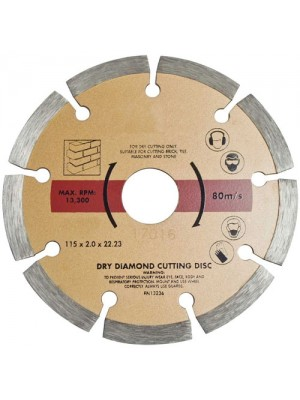 115mm Diamond Cutting Disc Angle Concrete Tiles Brick Cutting