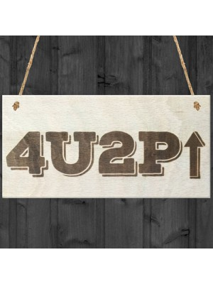 For You To Pee Novelty Wooden Hanging Bathroom Toilet Plaque