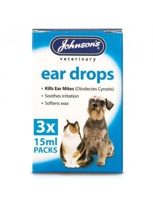 Johnsons Ear Drops For Cats & Dogs - Kills Ear Mites