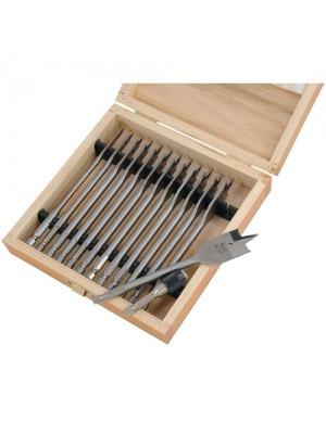 13 Piece Wood Drill Bit Set Spade Flat Hex Shank Bits