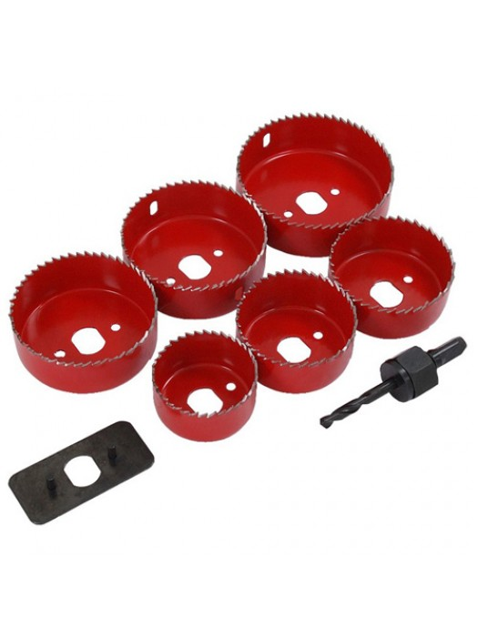 9 Piece Holesaw Down Lights Hole Cutter Saw Set