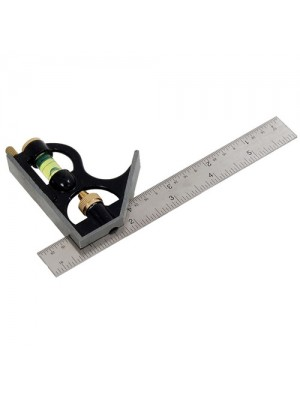 6 Inch 150mm Combination Square Spirit Level Angle Finder