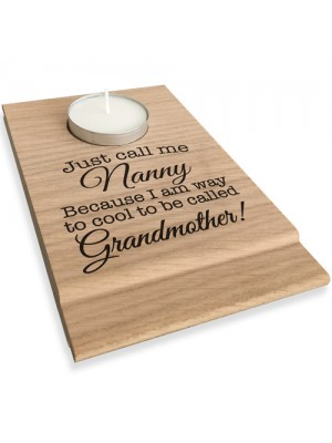 Just Call Me Nanny Candle Gift Set Tea Light Holder