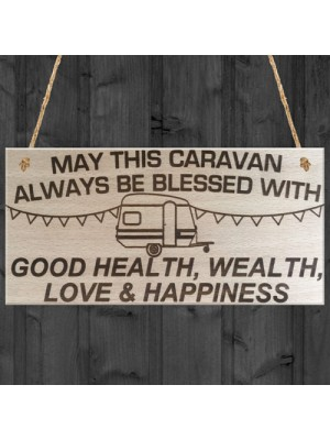 May This Caravan Be Blessed Wooden Hanging Plaque