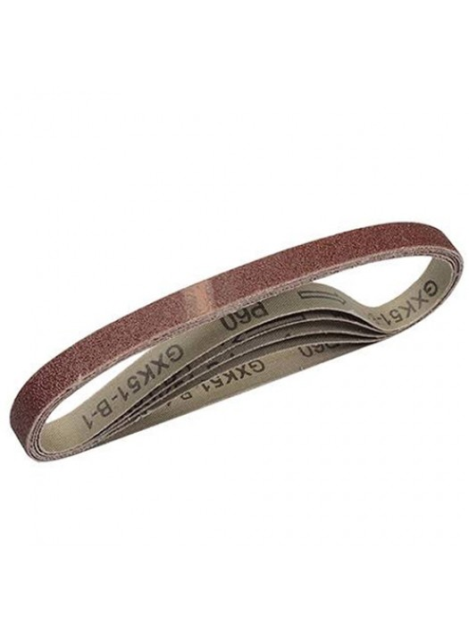 5 Pack Of Replacement 60 Grit Sanding Belts - 13 x 457mm