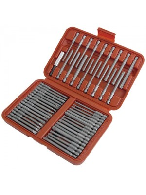 50 Piece Hex Star Torx Extra Long Security Bits Set
