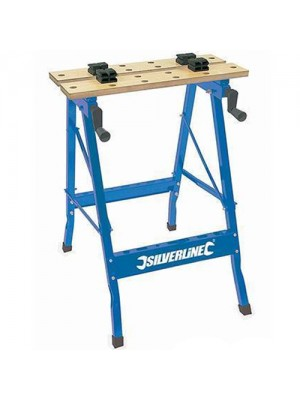 Silverline Lightweight Double Worktop Portable Workbench 100kg