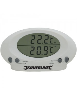 Silverline Indoor/Outdoor LCD Display Thermometer Sensor