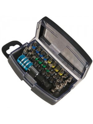 Silverline 32 Piece Colour Coded Drill Bit Set With Case