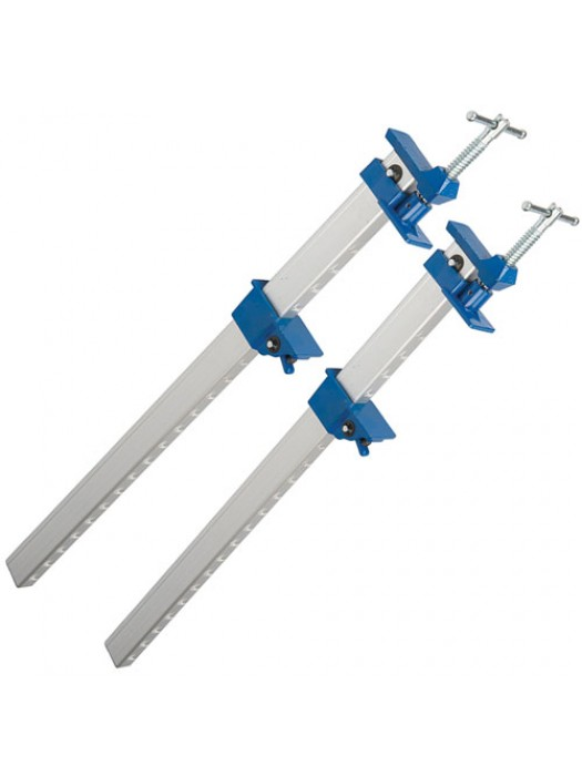 Silverline Set Of 2 Aluminium U Section Sash Clamps - 600mm