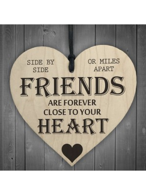 Friends Are Forever Wooden Hanging Heart Friendship Gift