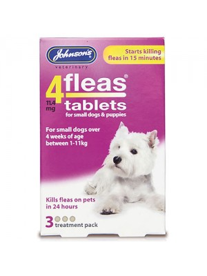 4Fleas Flea Tablets For Puppies And Small dogs