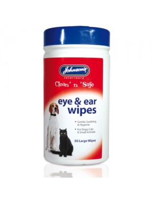 Johnsons 50 Clean And Safe Wipes For Dogs/Cats/Small Animals