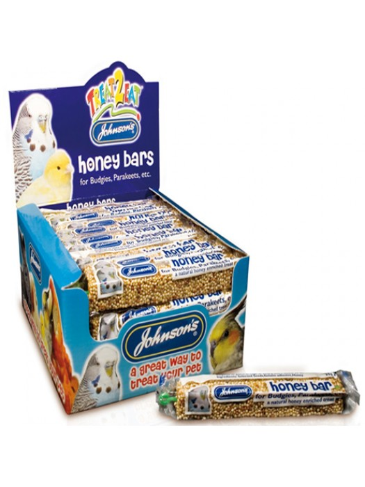 Johnsons Budgie And Cage Birds Honey And Seed Bars Treats