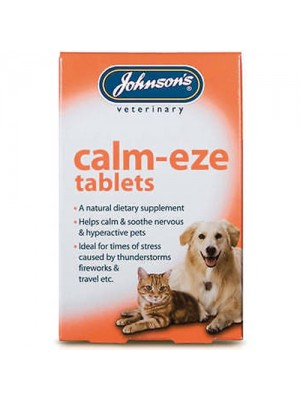 Johnsons Calm-eze Tablets For Thunderstorms/Fireworks/Travel