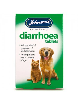 Johnsons 12 Diarrhoea Symptoms Relief Tablets For Dogs/Cats