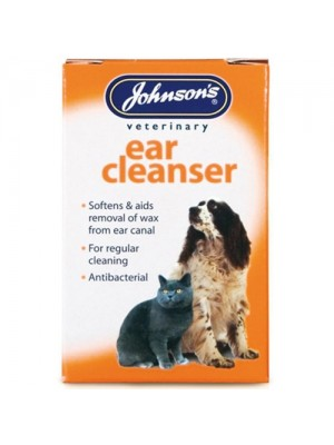 Johnsnons Dog/Cat 18ml Ear Cleanser Softens And Clears Canal