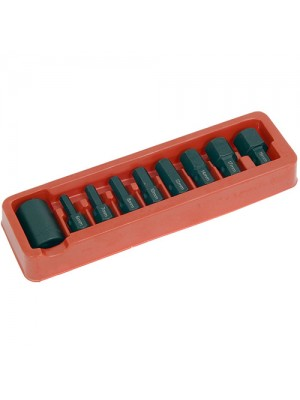 9 Piece 1/2 Inch Drive Hex Allen Socket Bit Set Garage Tool