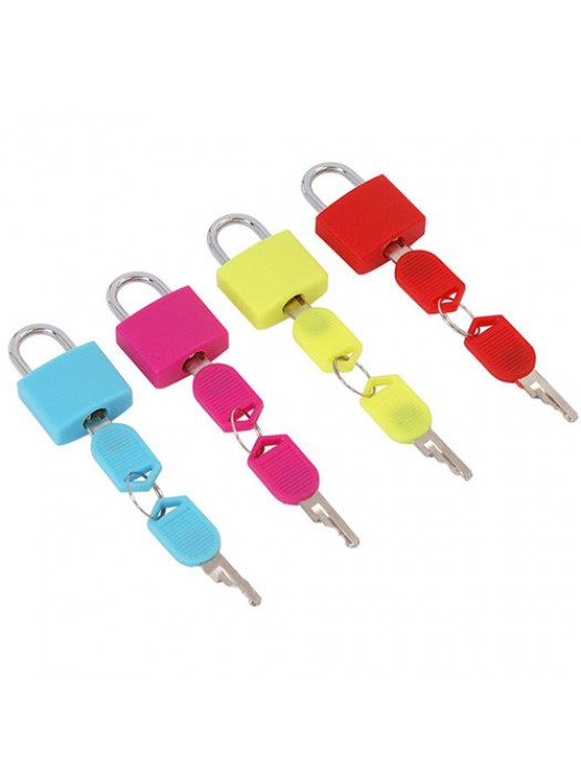 4 Pack Small Colour Coated Brass Travel Luggage Padlocks Set
