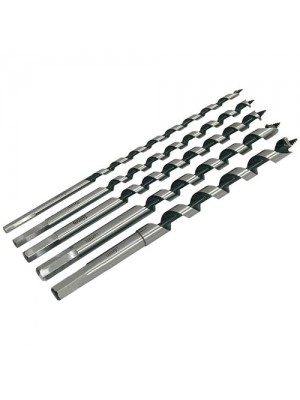 5 Piece Auger Bit Set Wood Drill Bits Long Hex Shanks 230mm