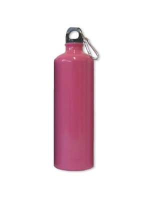 Aluminium Drinks Bottle - 1 Ltr - Pink