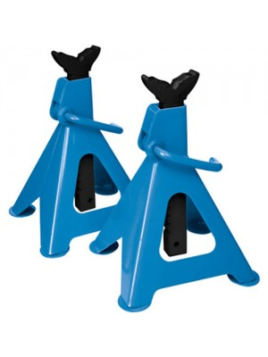 Set Of 2 Silverline Heavy Duty 3 Ton Car Axle Stands