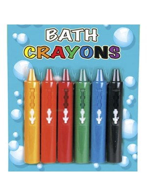 Bath Crayons (wipe clean) - 6 Pack