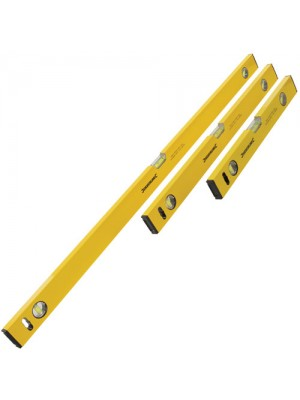 Silverline Set Of 3 Builders Spirit Level - 400, 600 & 1000mm