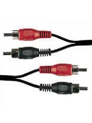 2 x Phono (RCA) Plug to 2 x Phono (RCA) Plug Gold 3m