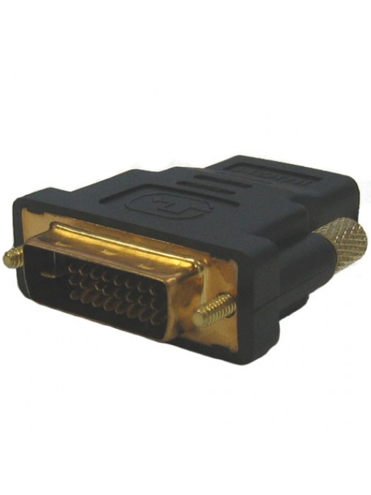 Gold Plated DVI Male To HDMI Female Connection Adapter