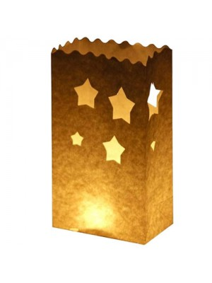 Combo Candle Bags Star Design - 10PK