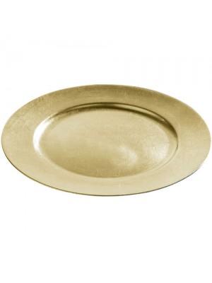 Set Of 6 33cm Decorative Charger Dinner Under Plates - Gold