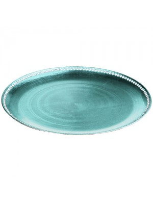 33cm Diameter Coupe Diamante Edge Radiance Charger Plate Teal