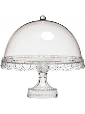 4 In 1 Clear Acrylic Cake Stand + Dome Lid Decorative Tableware