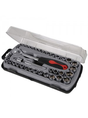 39Pc Metric, Torx, Imperial (AF) Ratchet Socket Tool Set