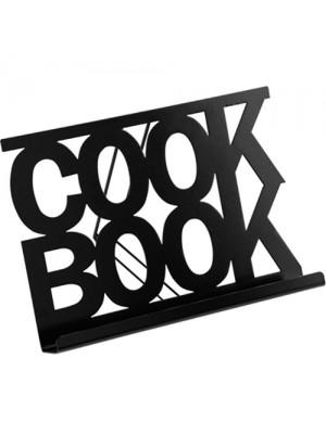 Black Enamel Finish Modern Kitchen Cook Book & Recipe Stand