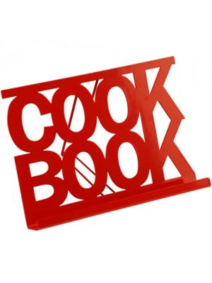 Red Enamel Finish Modern Kitchen Cook Book & Recipe Stand