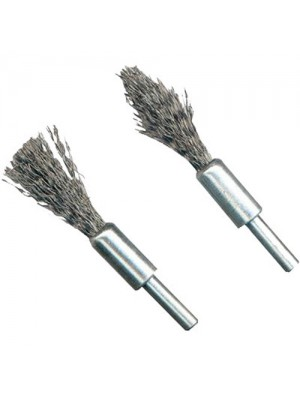 2 Piece Rotary Wire Brush De-Carb Set - 6mm Shank