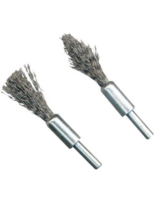 2 Piece Rotary Wire Brush De-Carb Set - 6mm Shank
