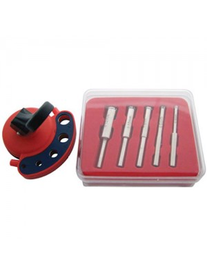 Diamond Tile Core Drill Bits Kit + Vacuum Base Drill Guide