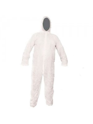 Pack Of 5 Disposable Paper Dust Proof Protective Suits - XL Size